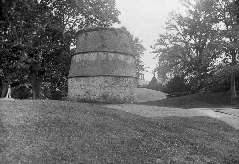 General view of the dovecot at Luffness House.