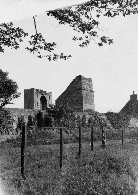 View of the dovecot at Saltcoats Castle, Gullane, from NW.