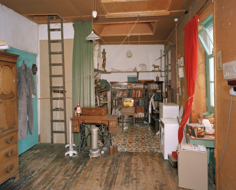 First floor, studio, view from West