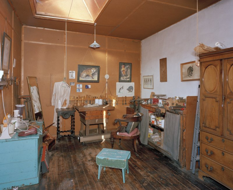 First floor, studio, view from East