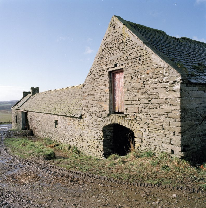 View of East range of steading from North East.