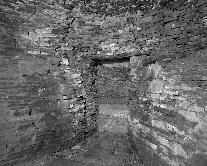 Kiln, view of interior showing entrance.