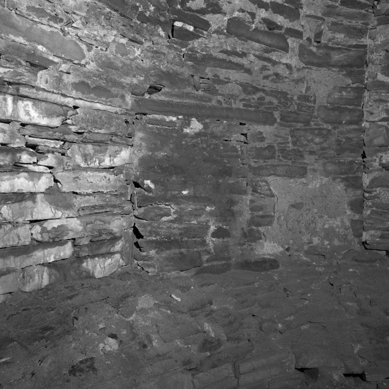 Kiln interior, detail of blocked opening on South East wall.
