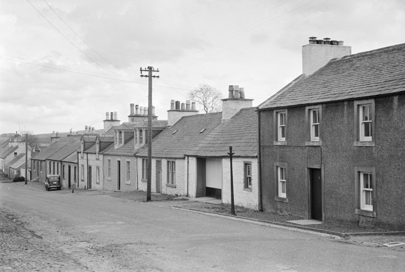 View of south side of Victoria Street, Kirkpatrick Durham, from north west
