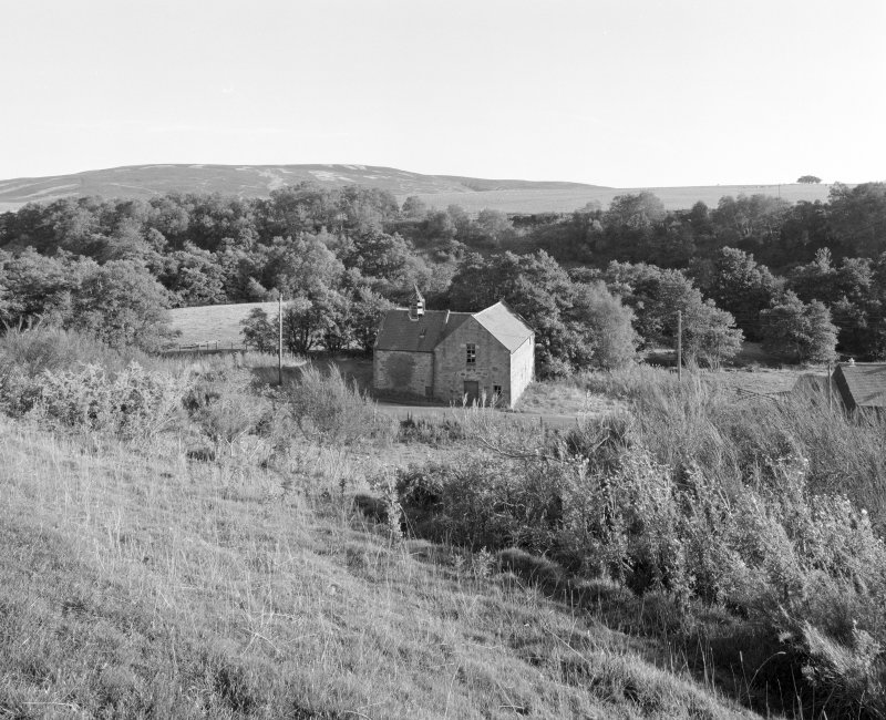 Distant view of mill from NW.