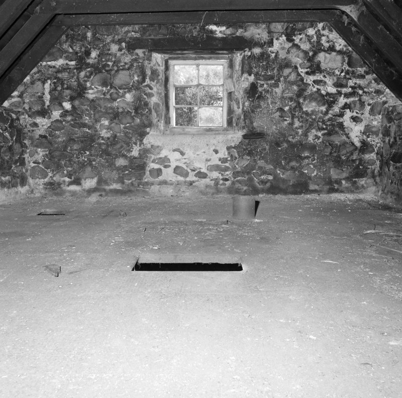 Interior. View showing kiln floor, which is made up of perforated cast-iron tiles.
