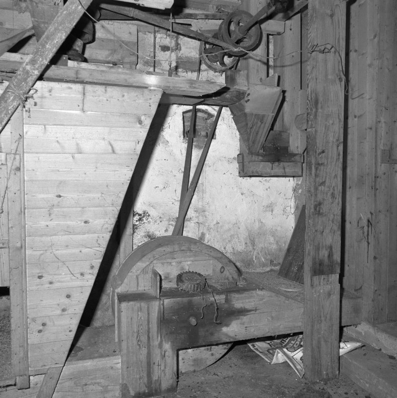 Interior. View at ground-floor level showing edge-runner mill.