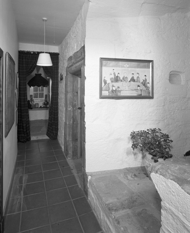 Interior. View of first floor corridor.