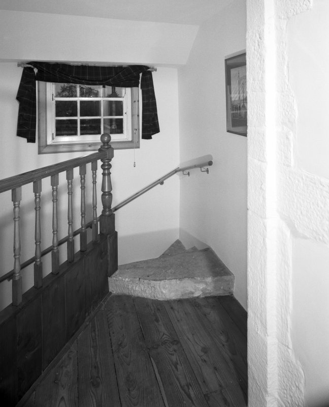 Interior. View of third floor landing.
