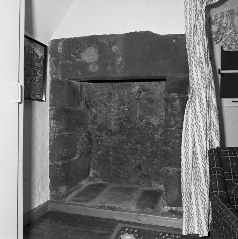 Interior. Detail of third floor fireplace.