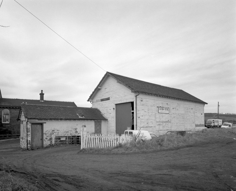 View of former goods station buildings from SE