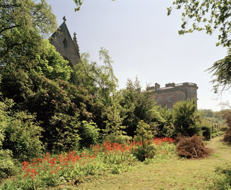 Ardgowan Chapel and House , view from North North West