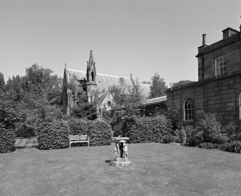 Ardgowan House and Chapel, view from South South West