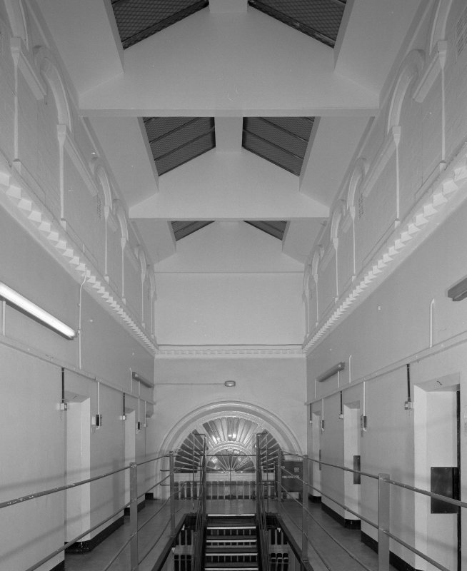 View of 'A' Hall ceiling from NW