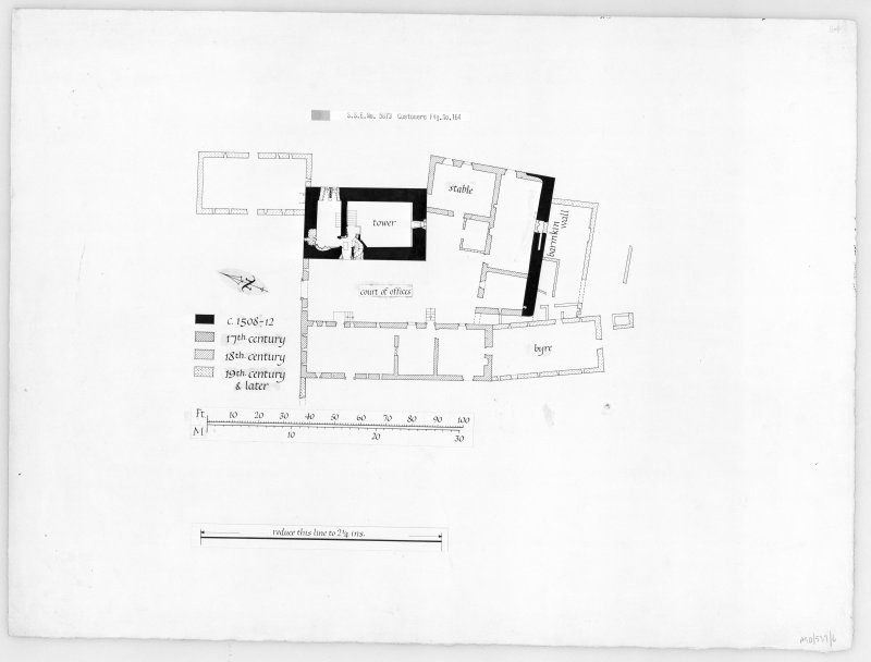Argyll, Saddell Castle. Photographic copy of floor plan.