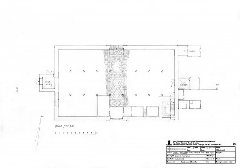 Dundee, Victoria Dock, Harbour Warehouse: Ground floor plan