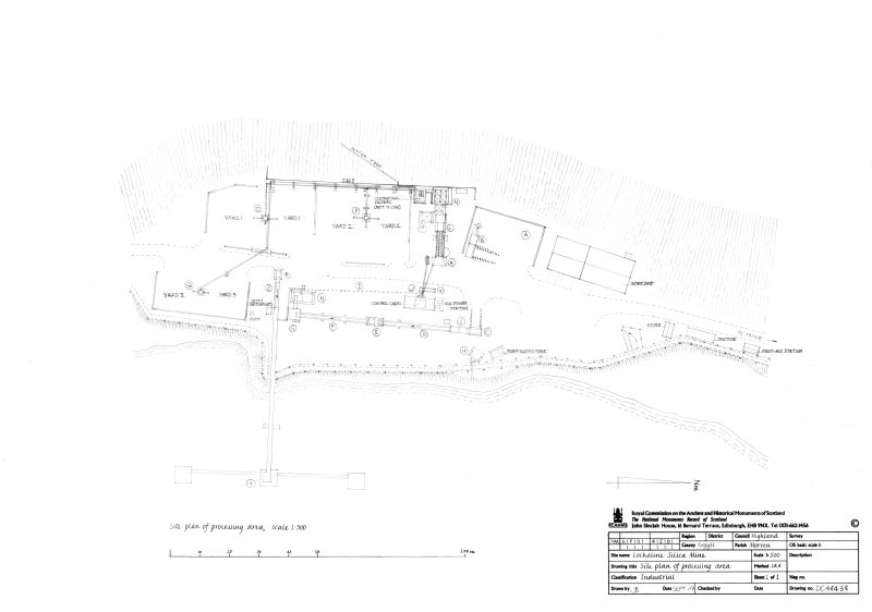 Lochaline Silica Sand Mine: Site plan of processing Area, sheet 1 of 1