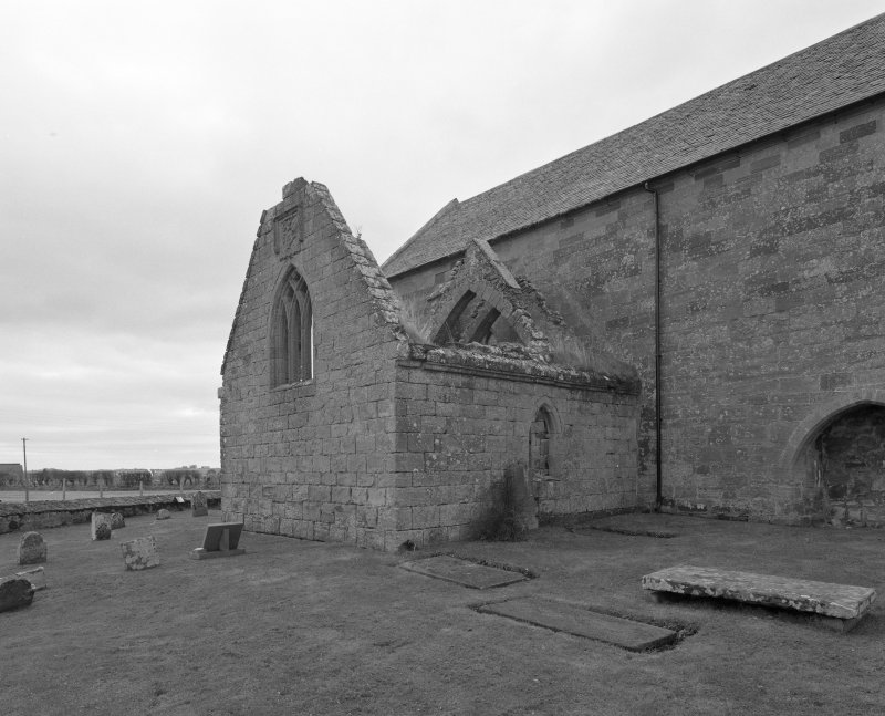 Fearn Abbey.  Ross aisle, general view from North West.
