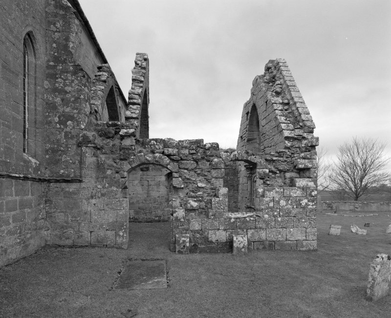 Fearn Abbey.  Ross aisle, view from East.