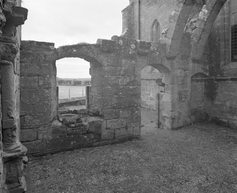 Fearn Abbey.  Ross aisle, view of interior from North West.