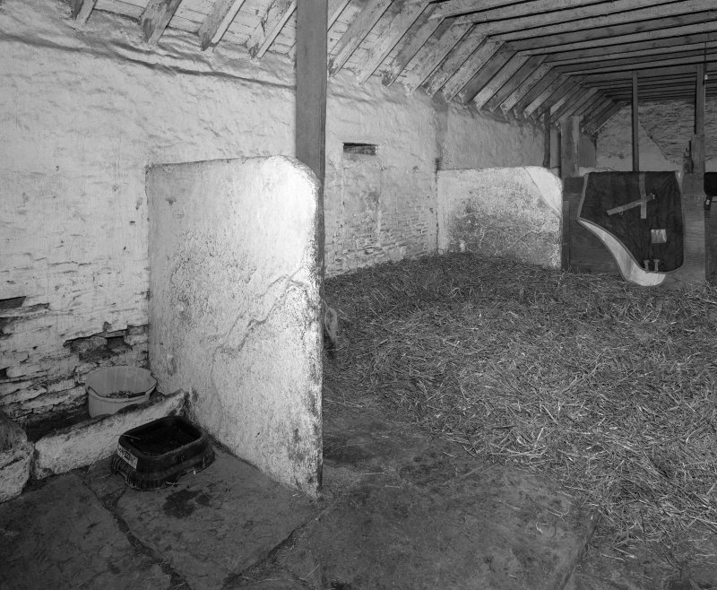 Stable, East range, interior view from North West.