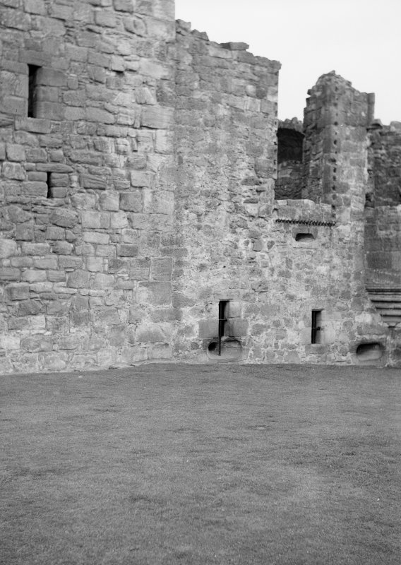 Exterior of Crichton Castle.