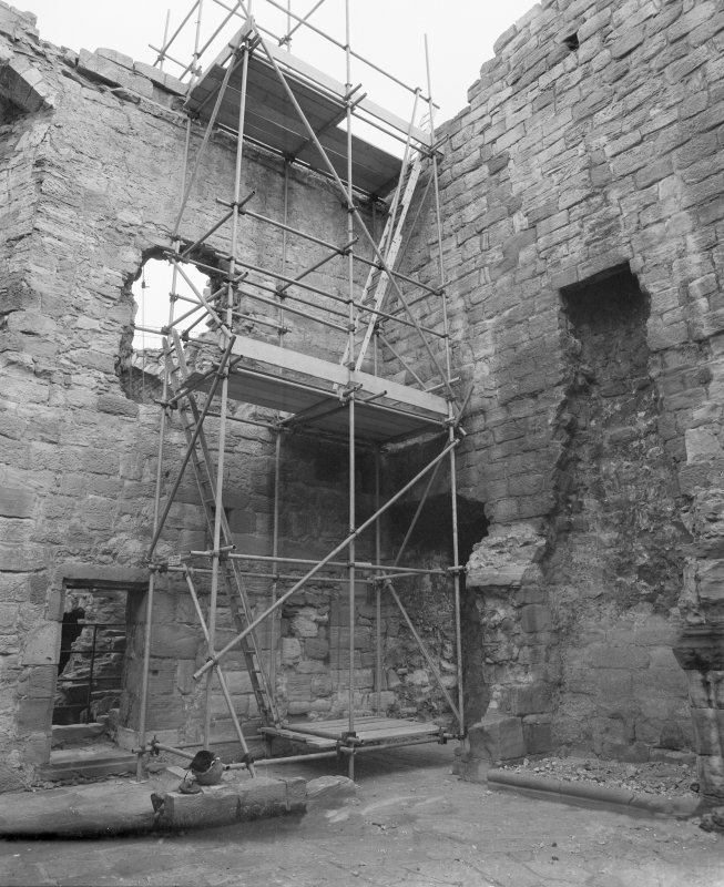 Detail interior view of Crichton Castle.