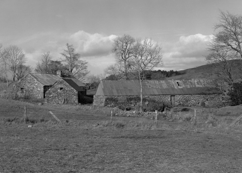 Auchindrain. View of part of clachan (township) from West.