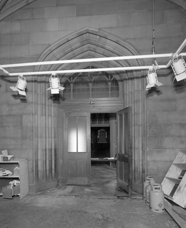View of east entrance hallway from East