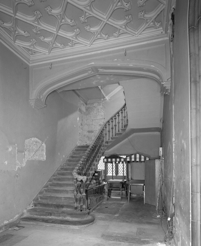 View of east stair hallway from South