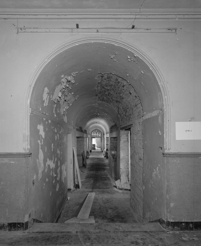 View of lower hall corridor from West