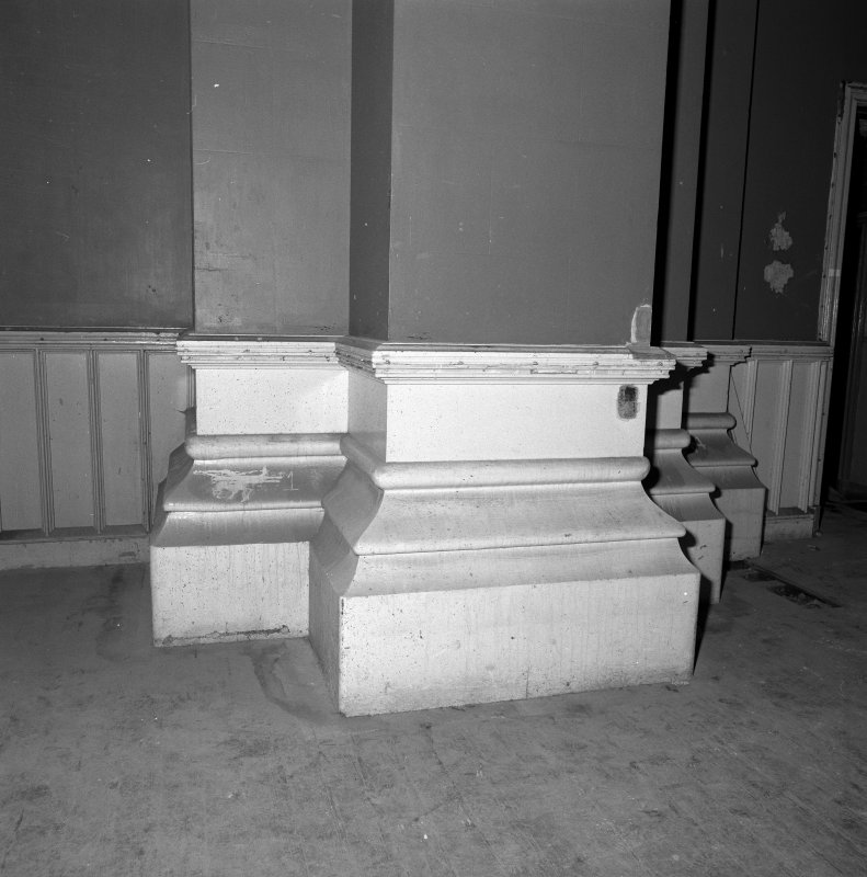 Detail of pier base in ground floor South West room