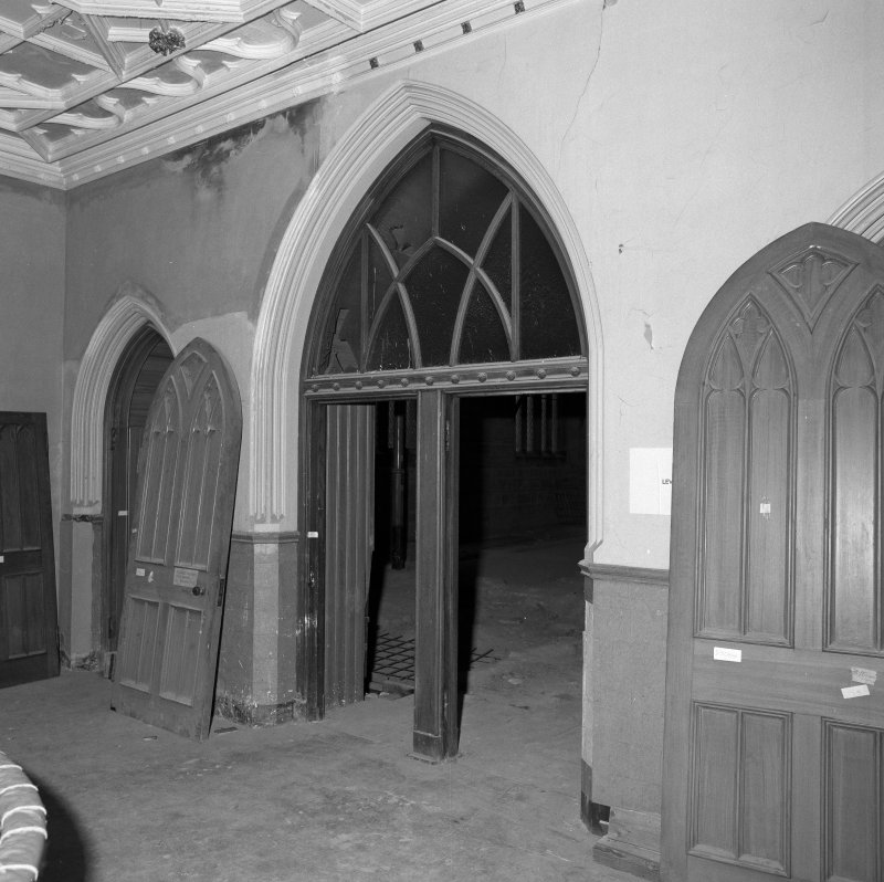 Detail of west stair hall doorways to main hall