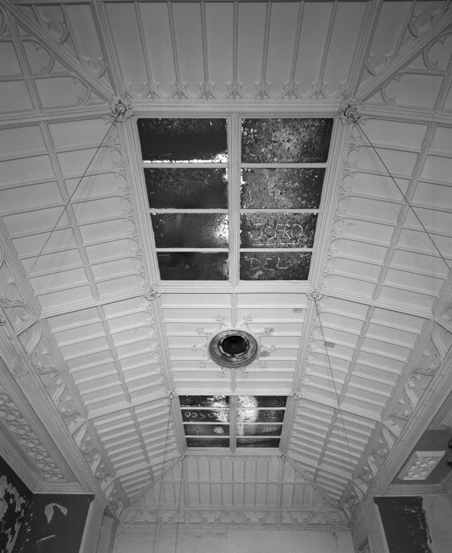 View of first floor South West room ceiling