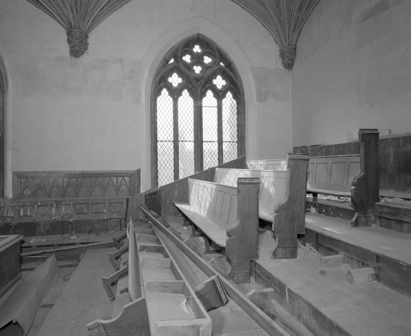 View of SW corner of gallery and pews from North North East