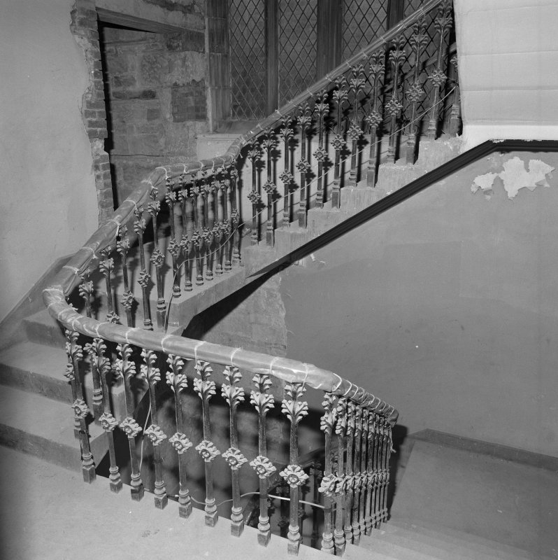 Detail of vestry/offices staircase