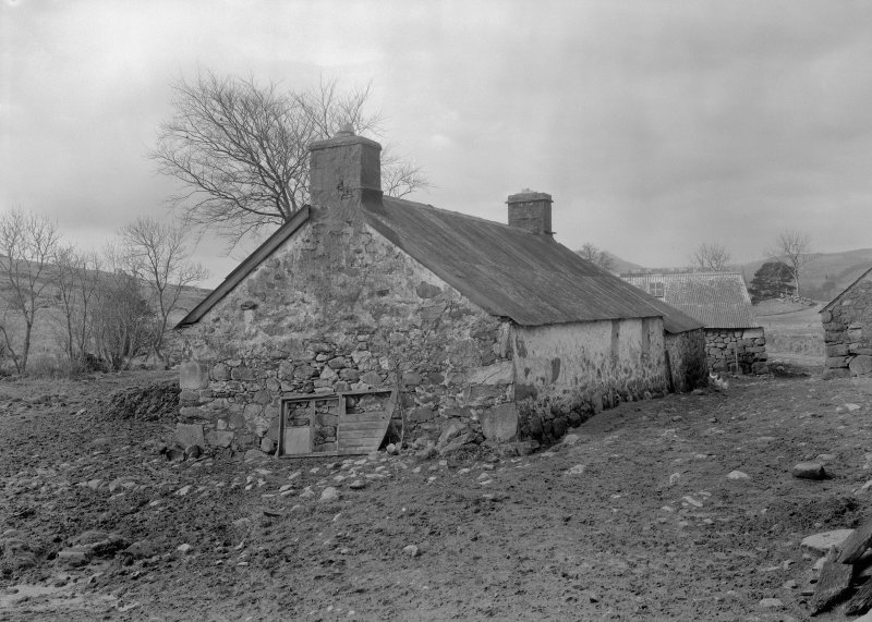 Auchindrain, Building H. View from North East.