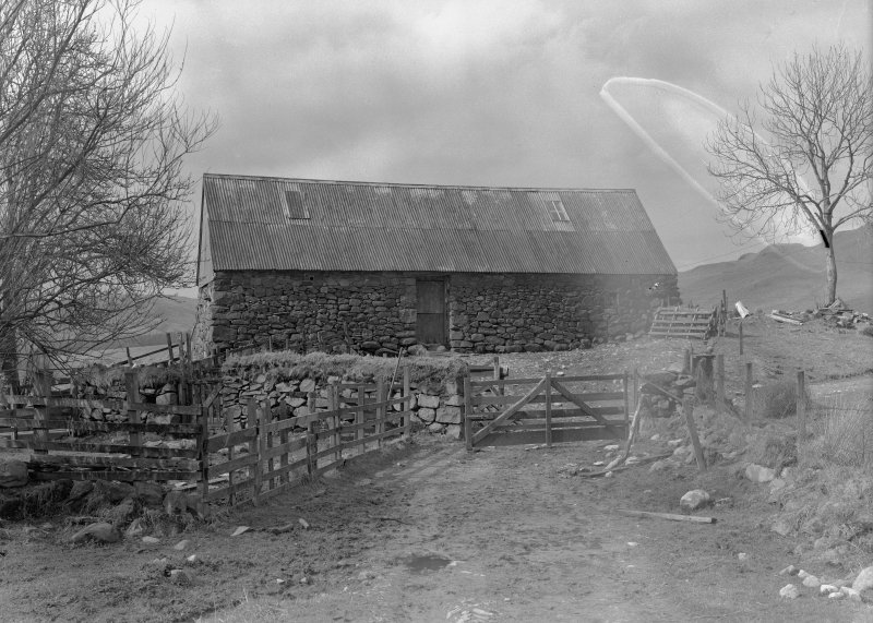 Auchindrain, Building N. View from East.