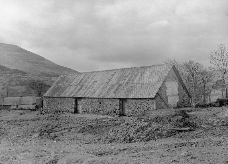 Auchindrain, Building B. View of barn from North.
