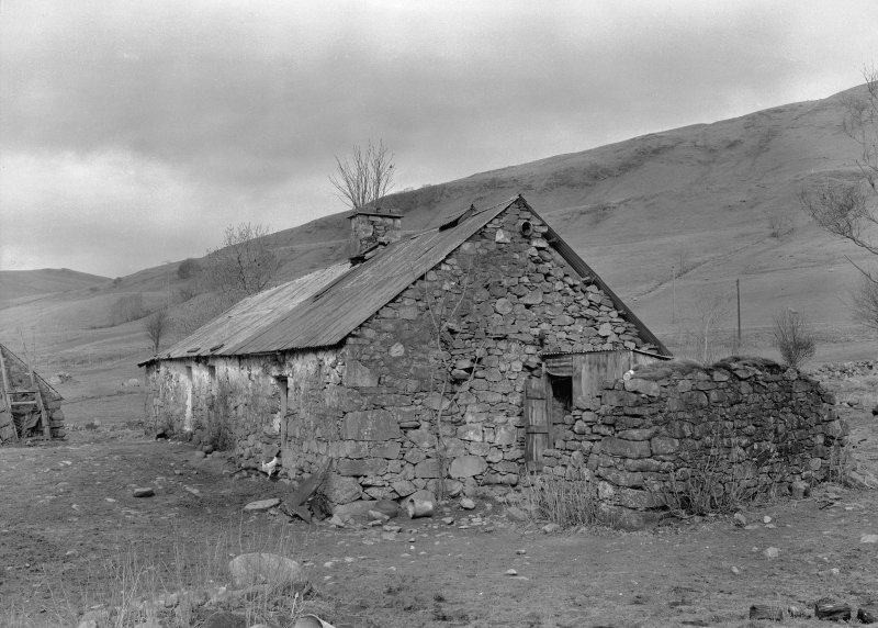 Auchindrain, Building D. View from South East.