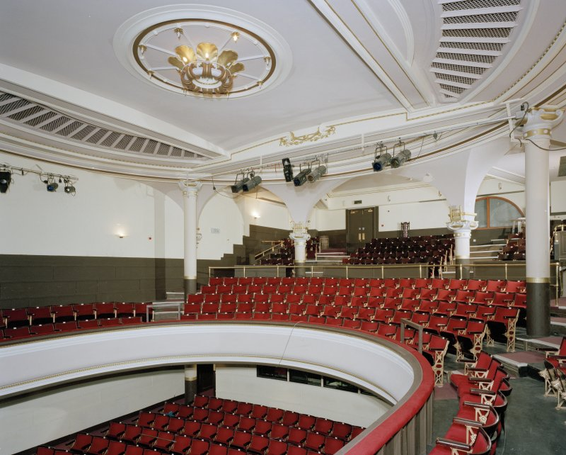 Auditorium, circle level, view from South West