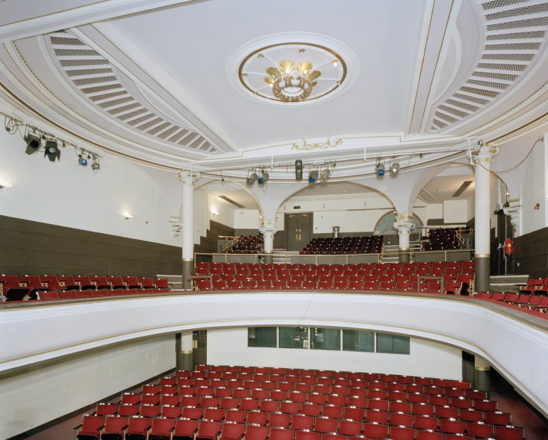 Auditorium, view from stage to West