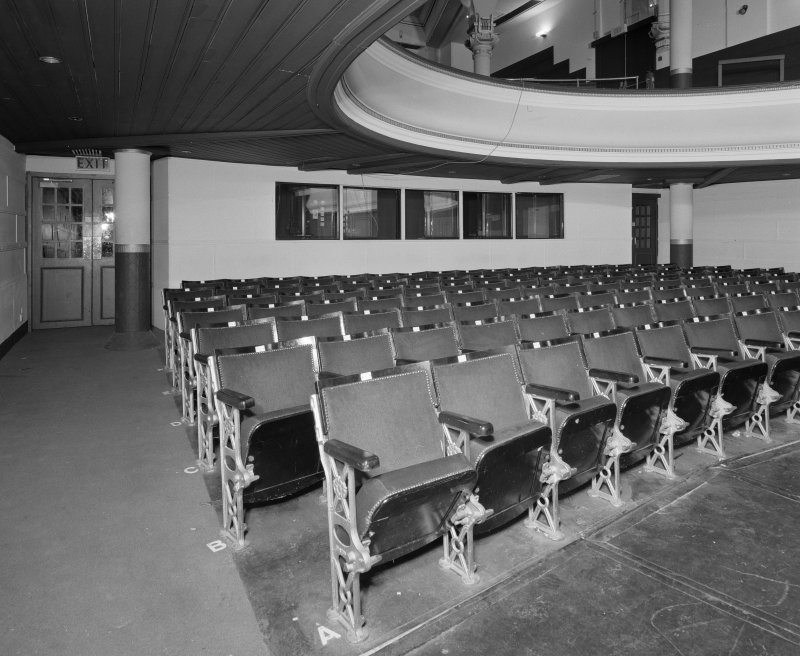 Auditorium, view of stalls from North West