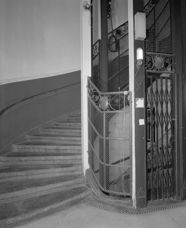 First floor landing, view of staircase and lift