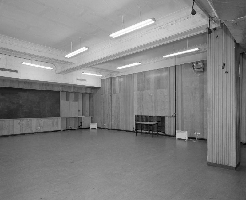 First floor, rehearsal room, view from East
