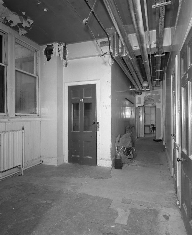 Third floor, view of corridor