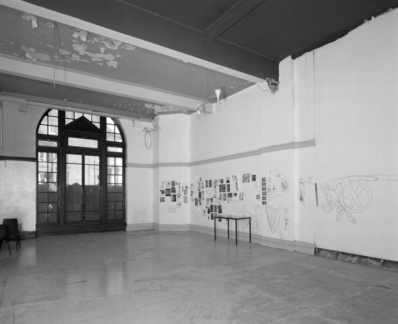 Fourth floor, former gymnasium, view from West