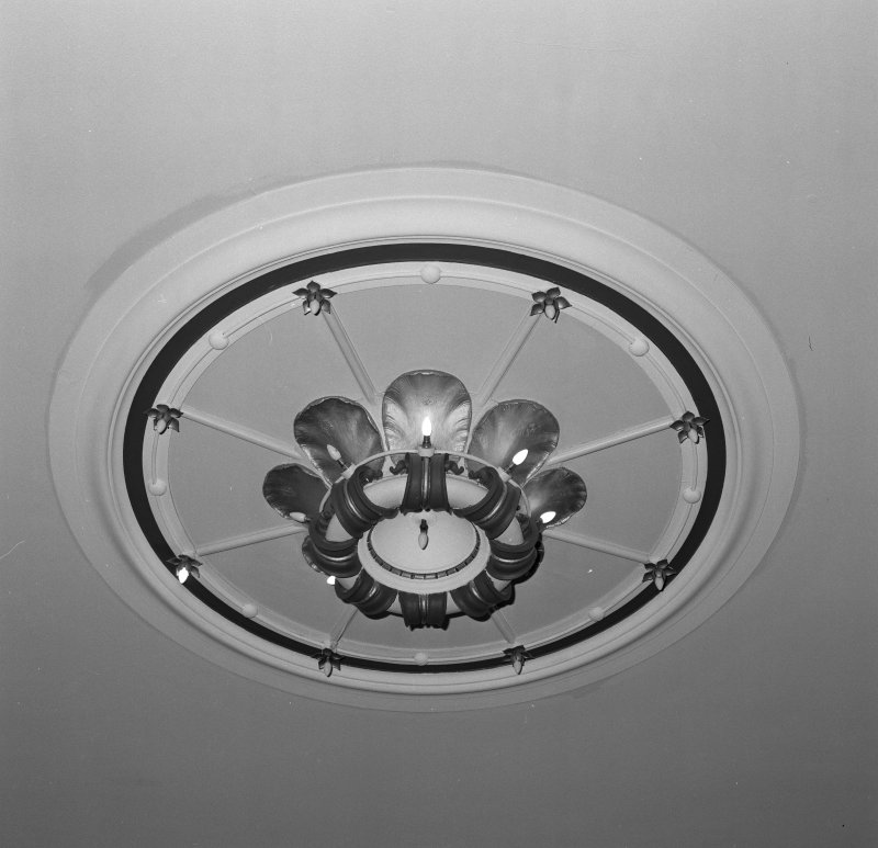 Auditorium, ceiling rose, detail
