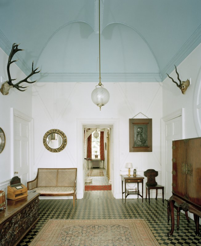 Ground floor, entrance hall, view from South