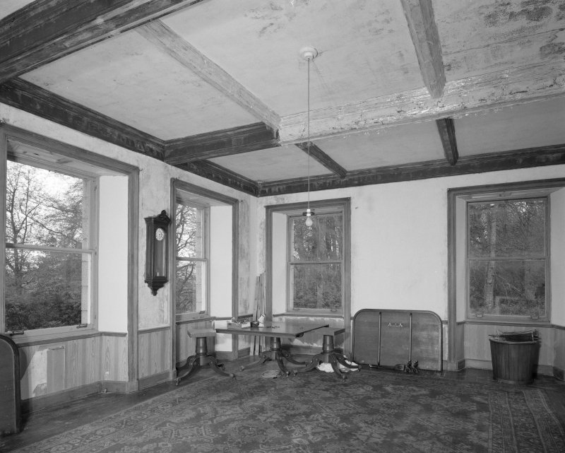 Ground floor, billiard room, view from East